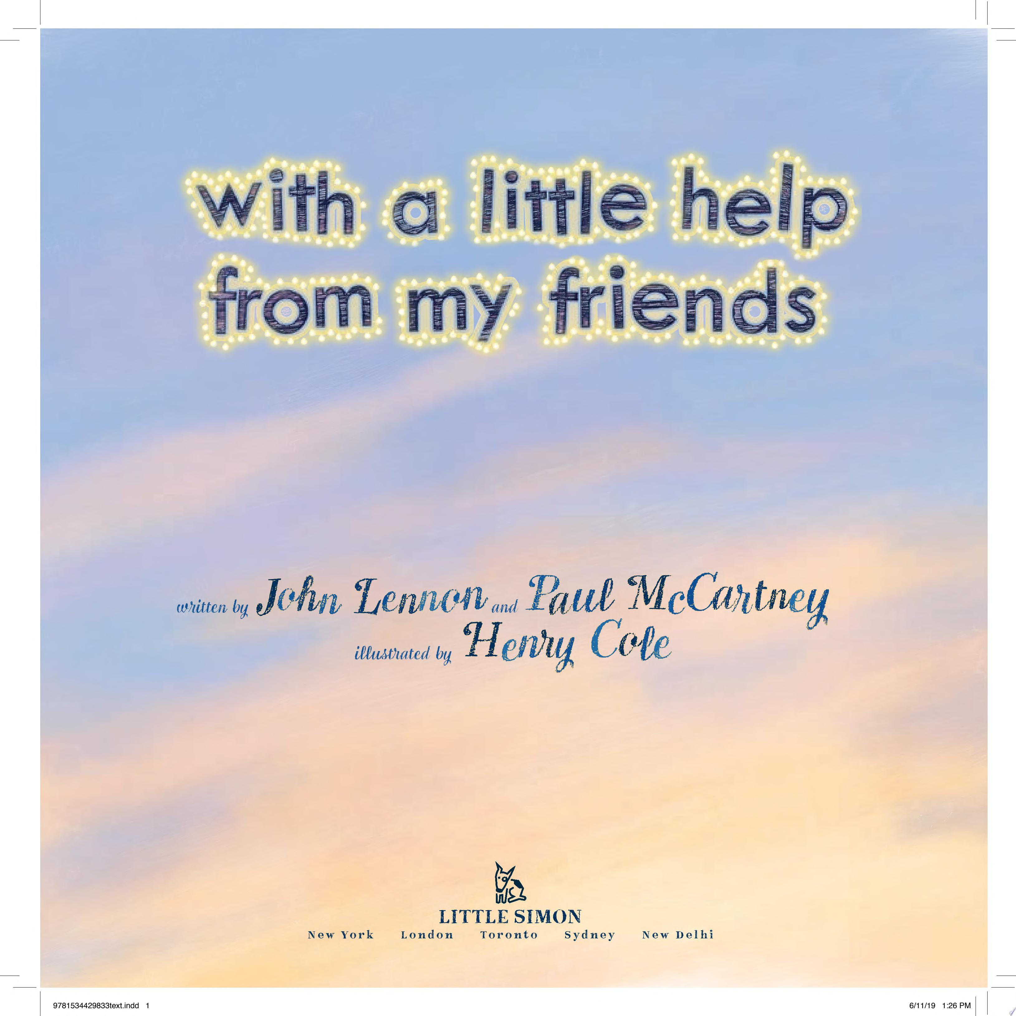 "Image for ""With a Little Help from My Friends"""