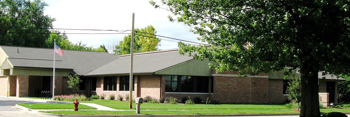Auburn Area Branch exterior shot of building