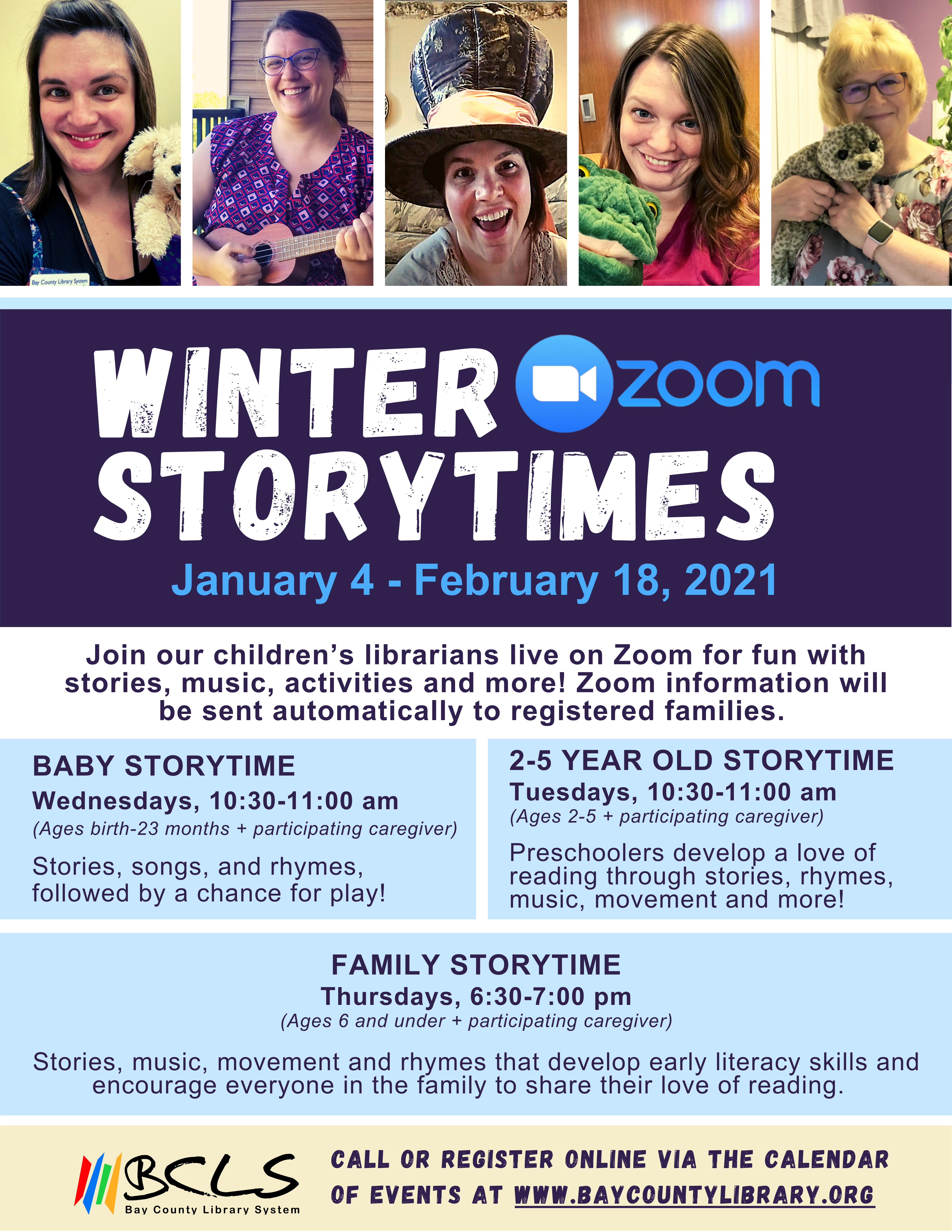 winter storytime flyer