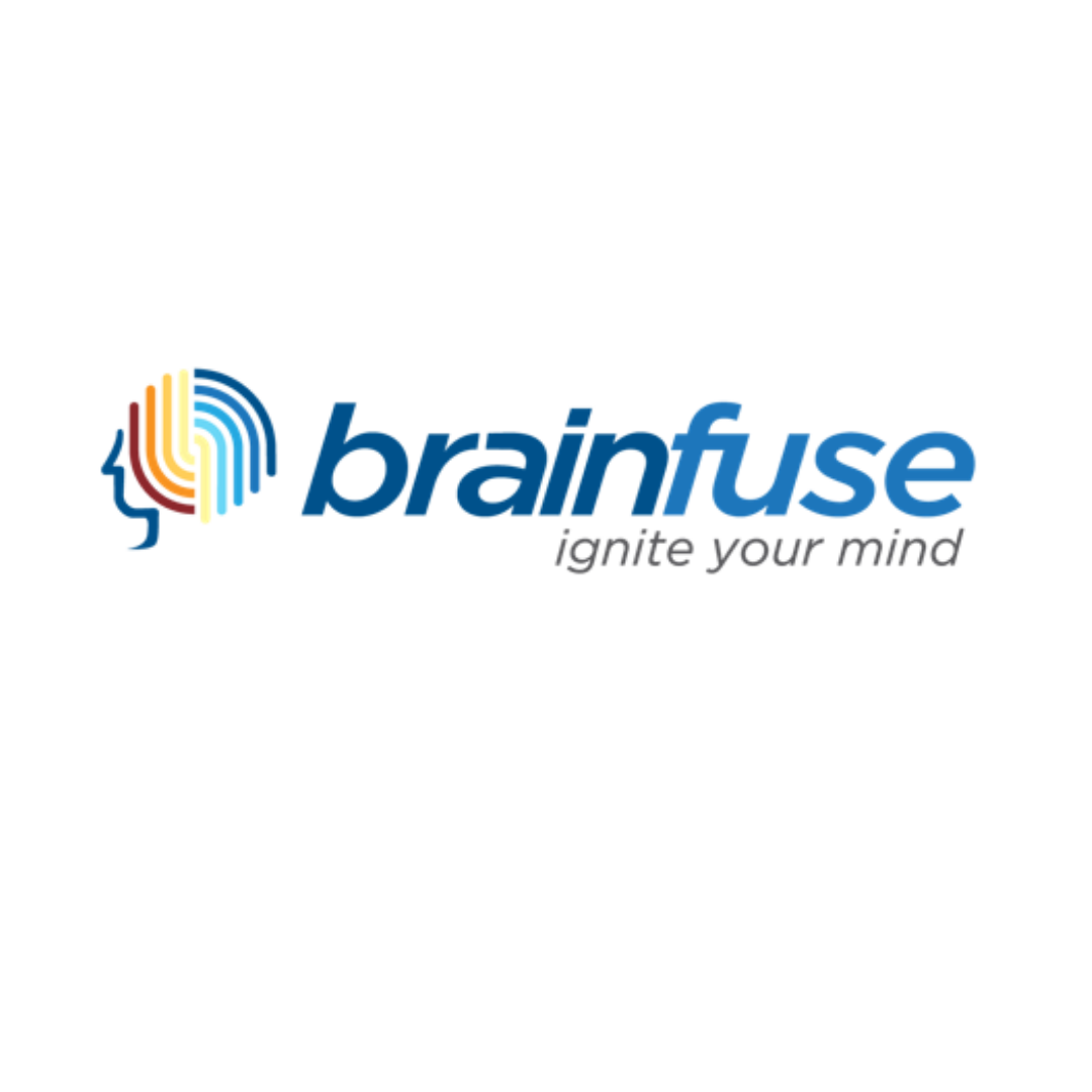 image of a brain with rainbow colors (brainfuse logo)